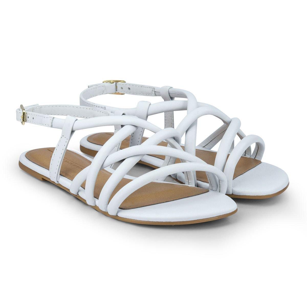 Sandale din piele Bibi Shoes Little Me Ice, Alb