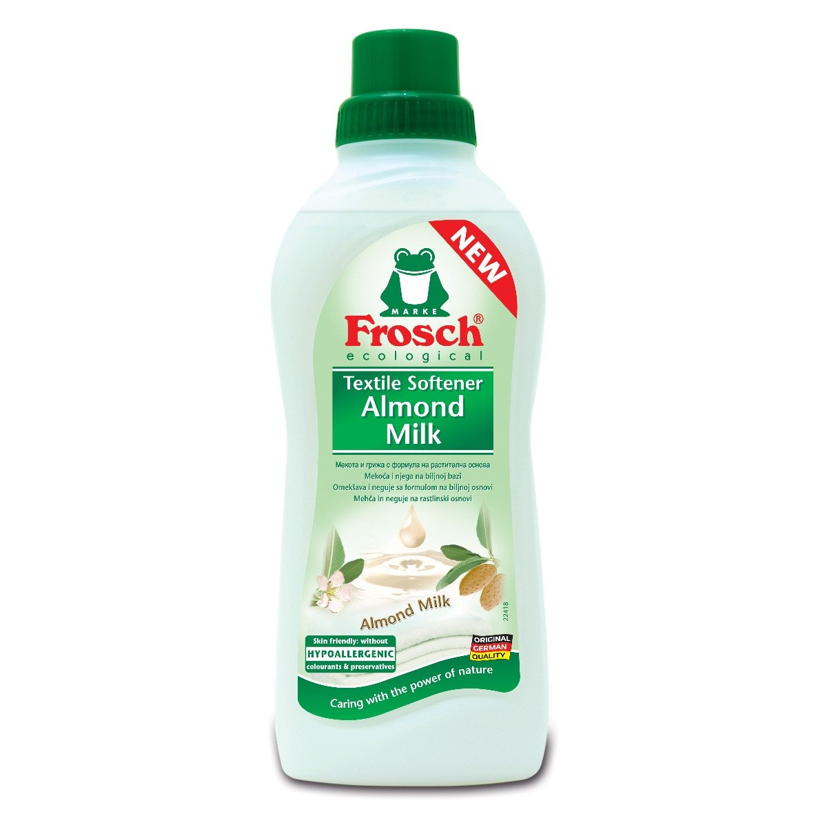 Balsam pentru rufe Frosch cu lapte de migdale, 750 ml