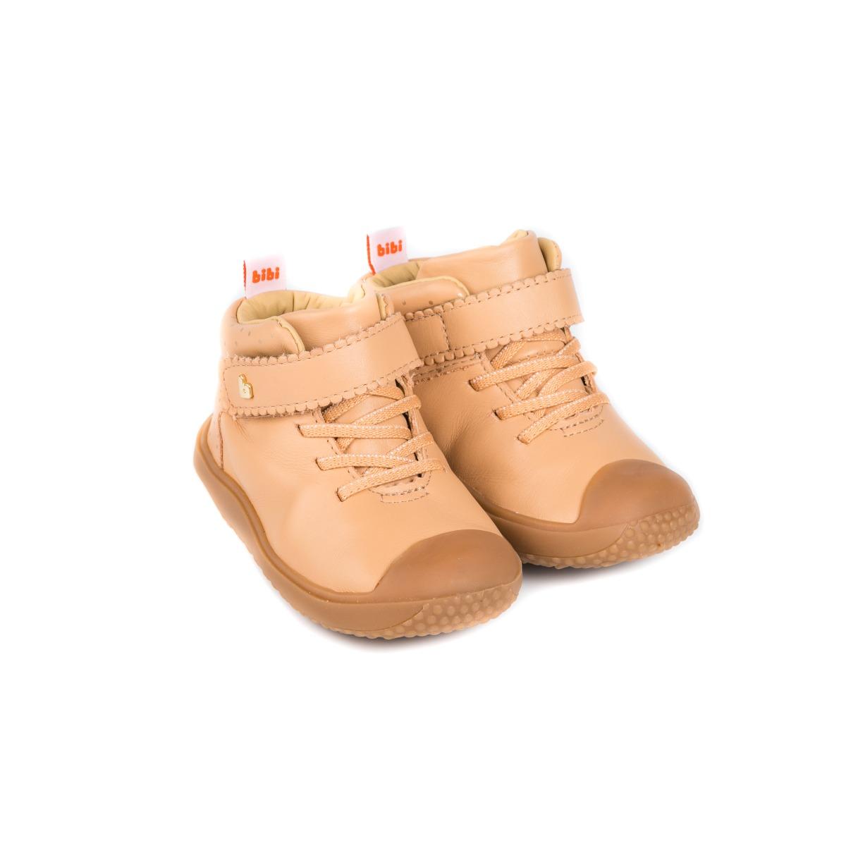 Ghete din piele Bibi Shoes Prewalker Beige imagine