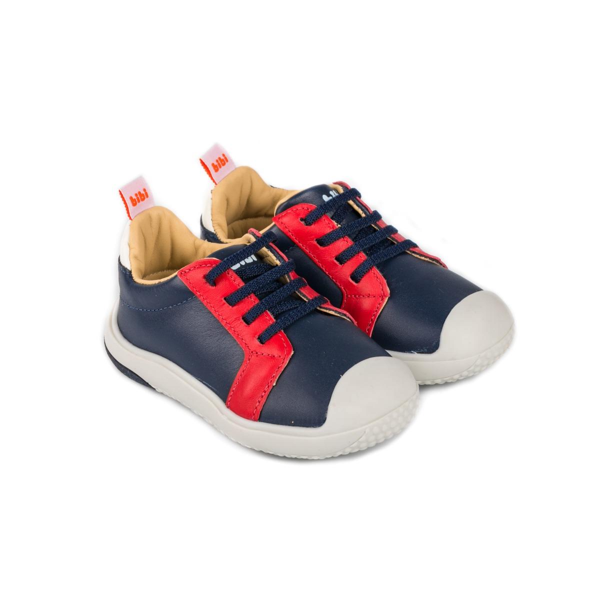 Pantofi sport cu siret Bibi Shoes Prewalker Naval, Bleumarin imagine