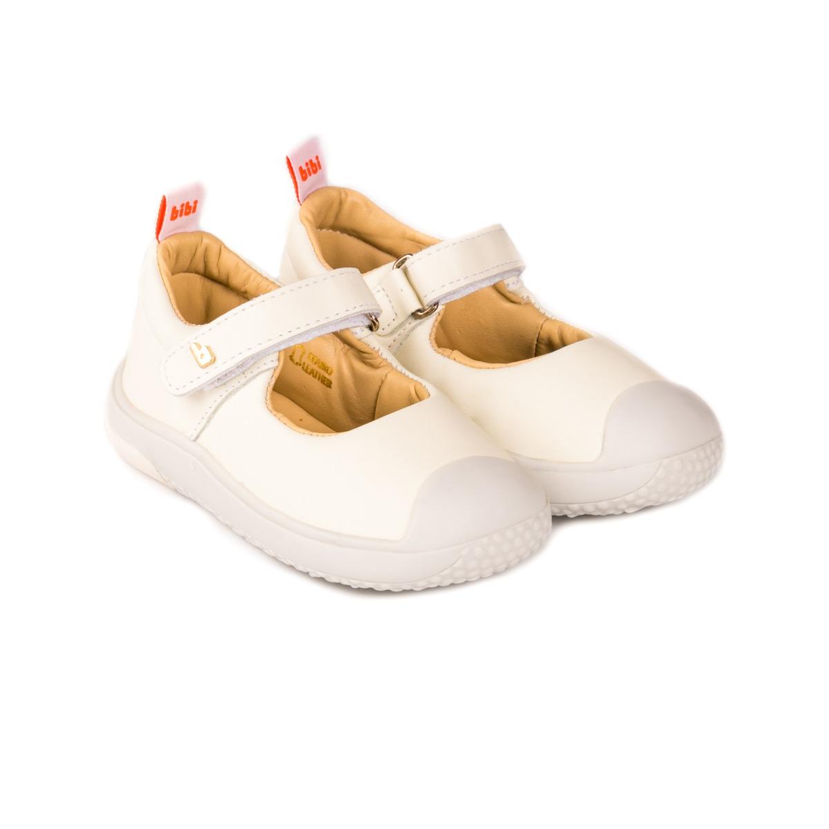 Pantofi Din Piele Bibi Shoes Prewalker, Alb