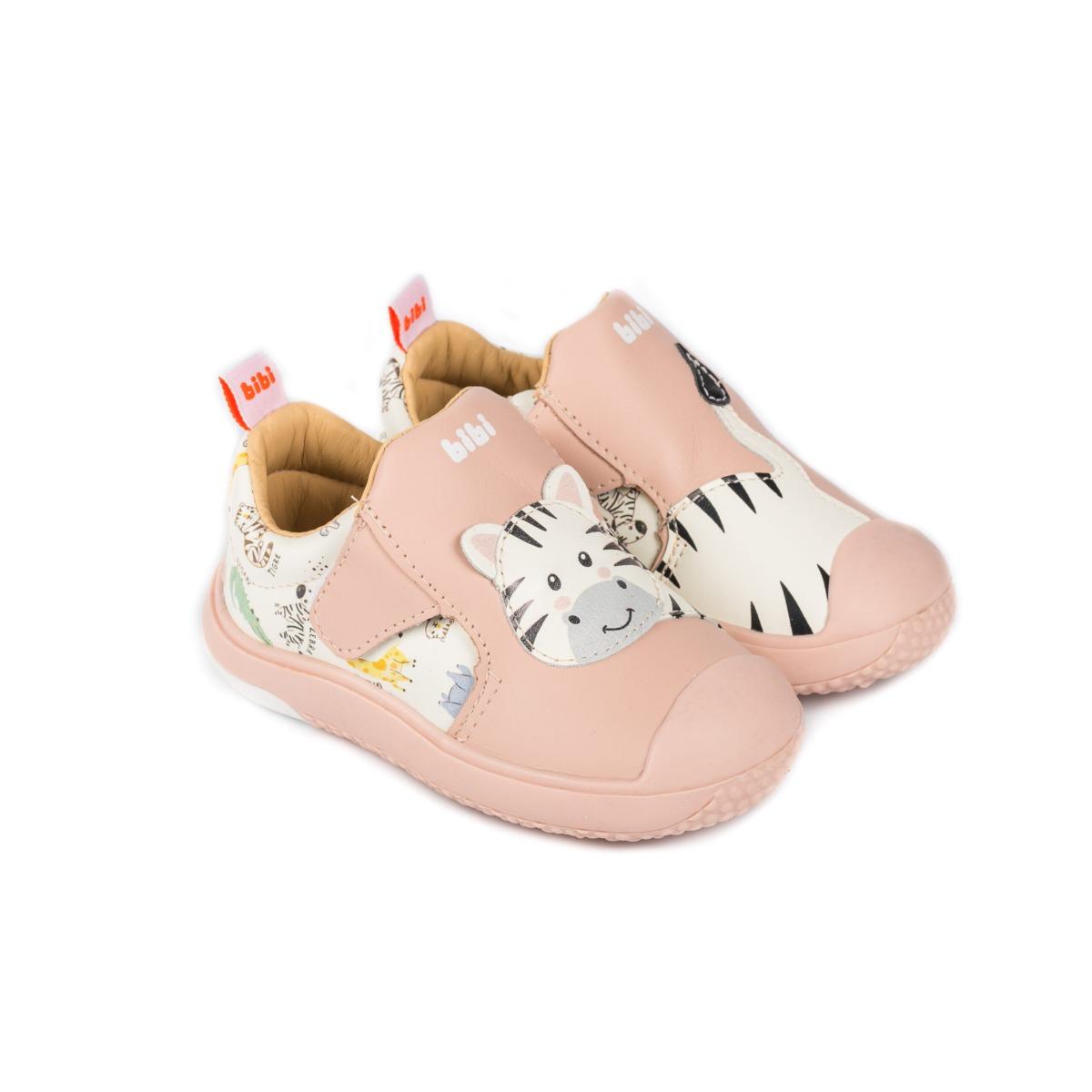 Pantofi sport Bibi Shoes Prewalker Baby Safari, Roz