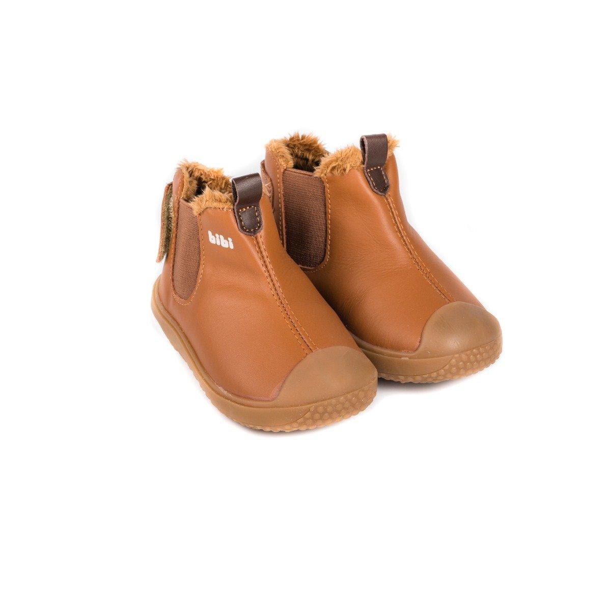 Ghete cu blanita Bibi Shoes Prewalker Caramel imagine