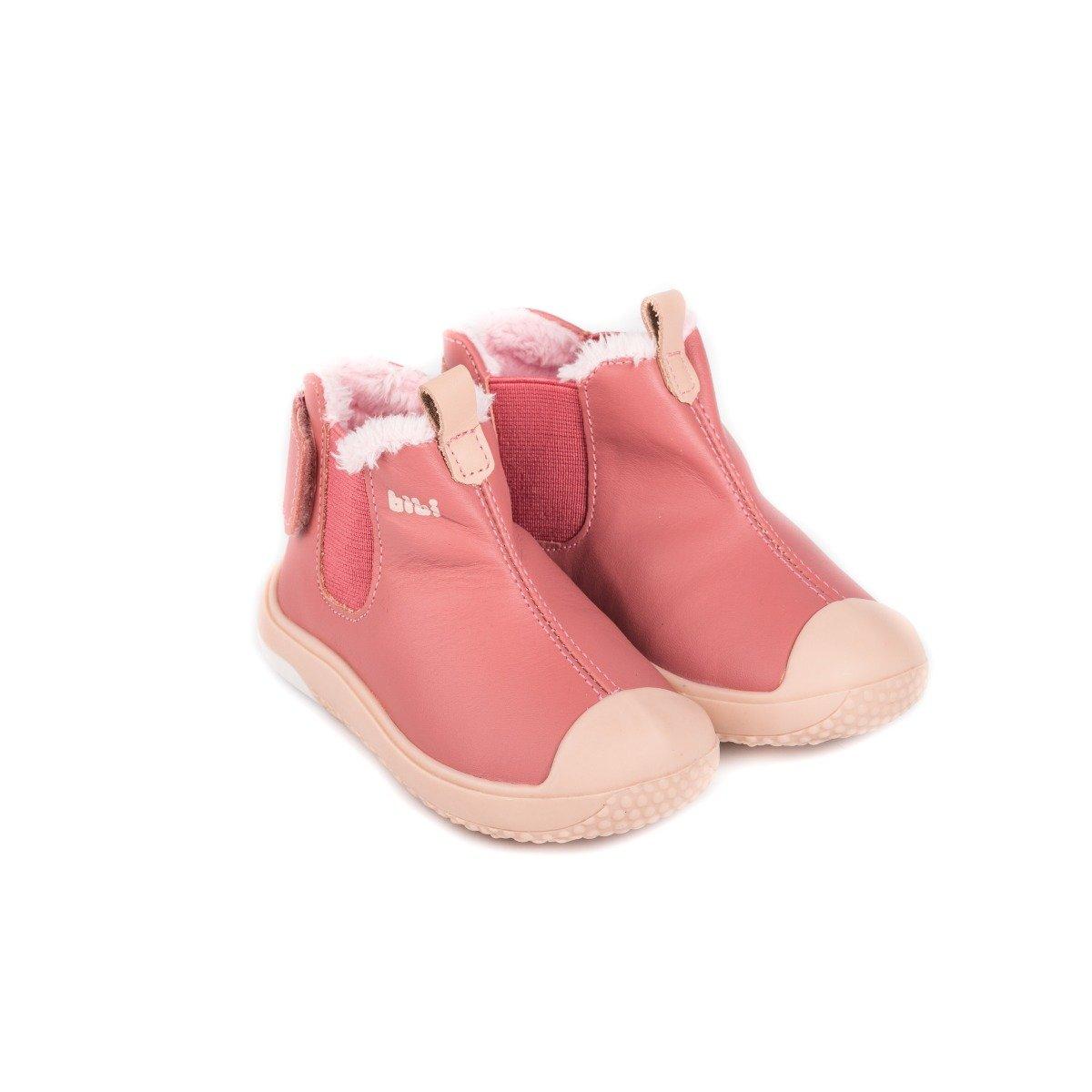 Ghete din piele cu blanita Bibi Shoes Prewalker imagine 2021