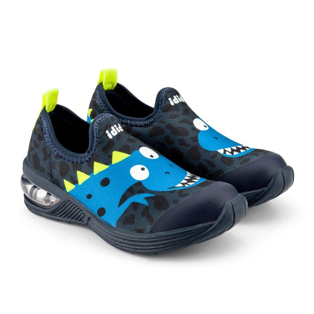 Pantofi baieti Led Bibi Space Wave 2.0 Blue Dino