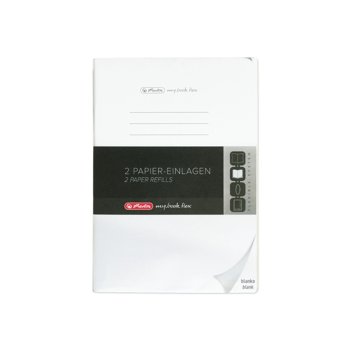 Rezerva 2 x 40 File Veline Herlitz My Book Flex, A4