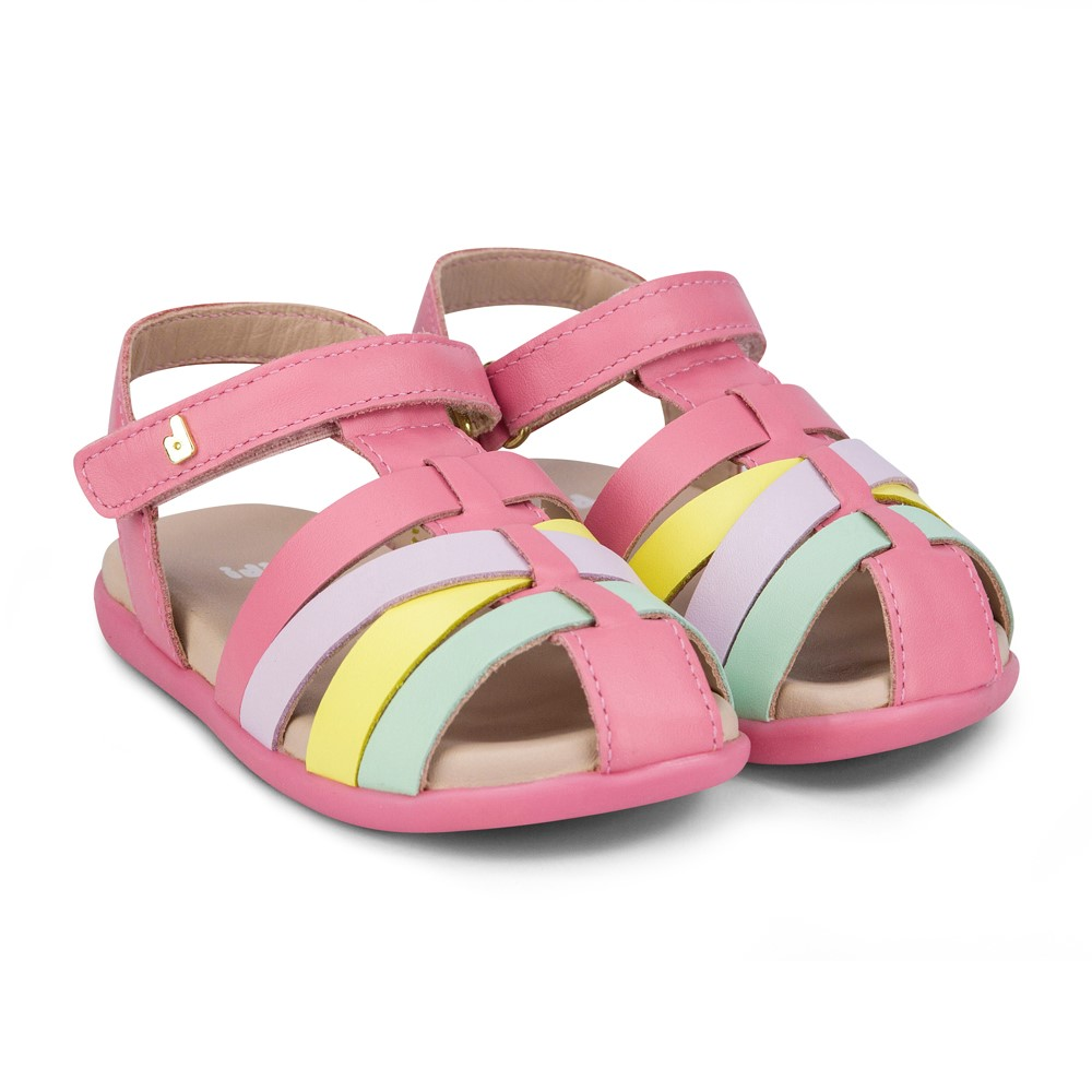 Sandale din piele Bibi Shoes Baby Soft, Roz