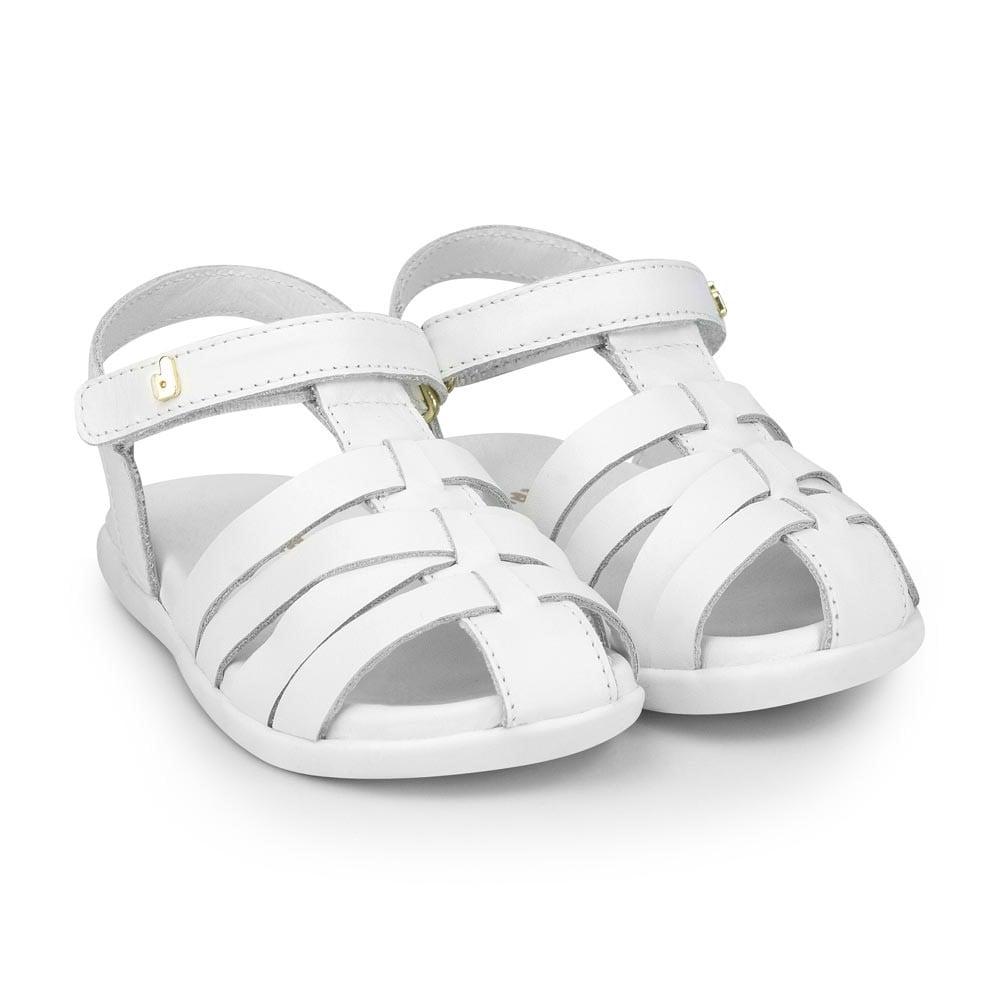 Sandale din piele Bibi Shoes Baby Soft, Alb