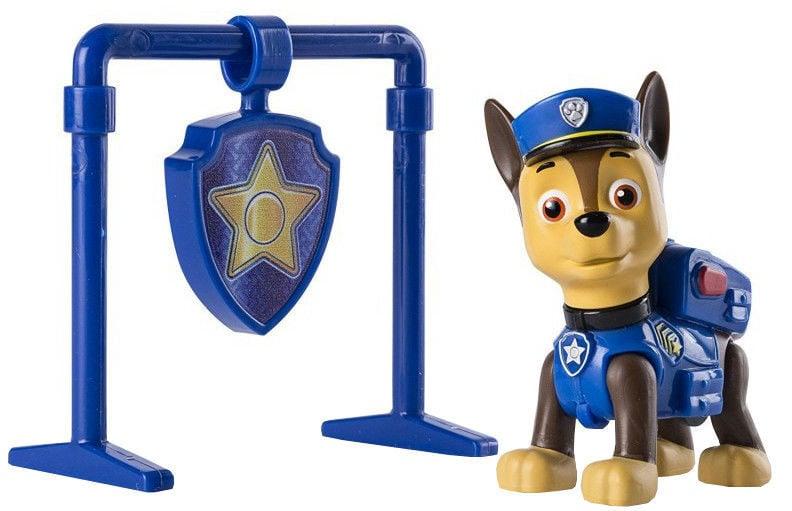 Figurina si insigna Paw Patrol, Pull Back Chase