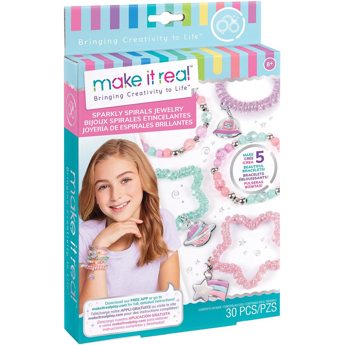 Set Make It Real, Bratari colorate spiralate, 69 piese