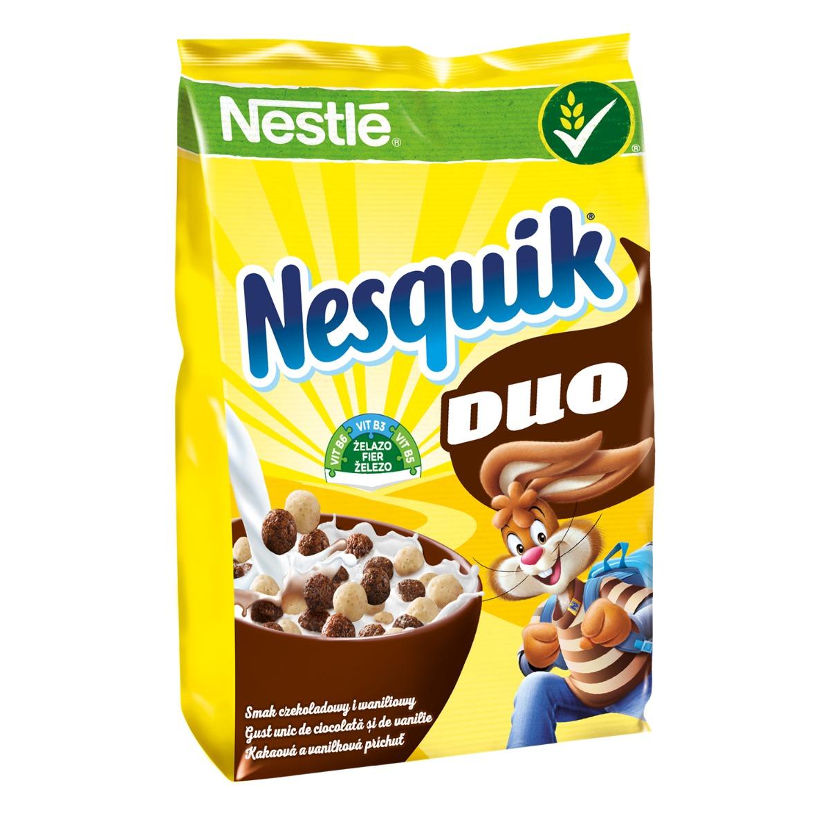 Cereale pentru mic dejun Nestle Nesquik Duo, 460 g imagine
