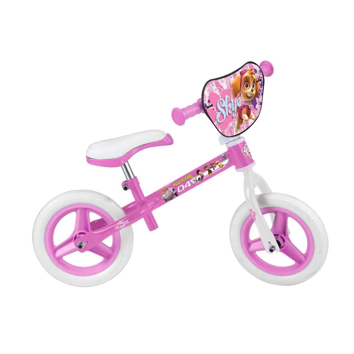 bicicleta fara pedale paw patrol girl - 10 inch