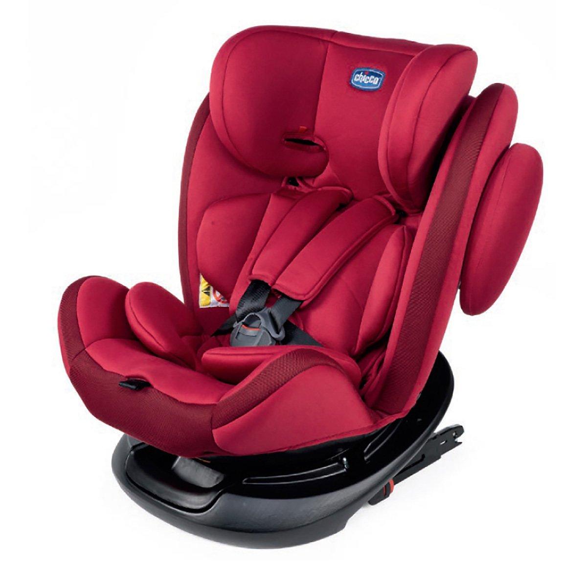 Scaun auto cuisofix Chicco Unico, Rotativ, grupa 0+/1/2/3, 0-36 kg, Rosu imagine