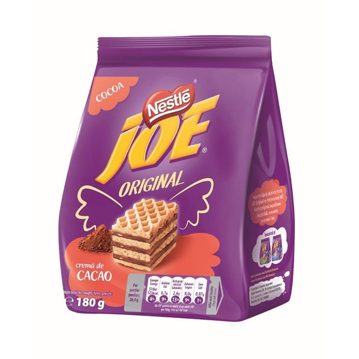 Napolitane cu crema de cacao Joe Original, 180 g imagine