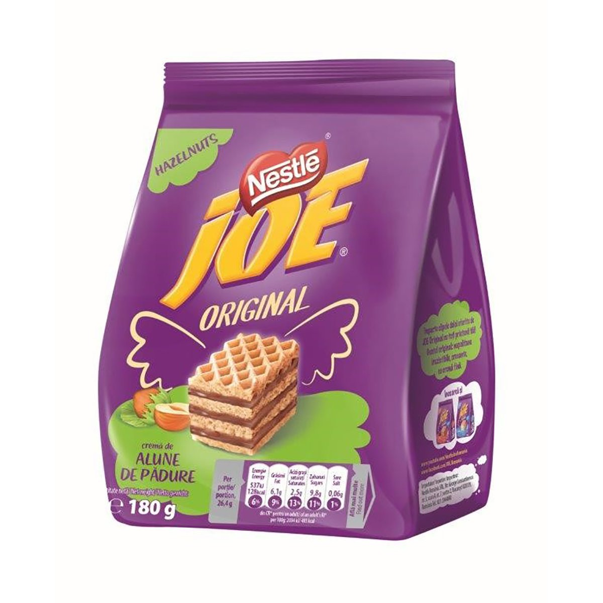 Napolitane cu crema de alune Joe Original, 180 g imagine