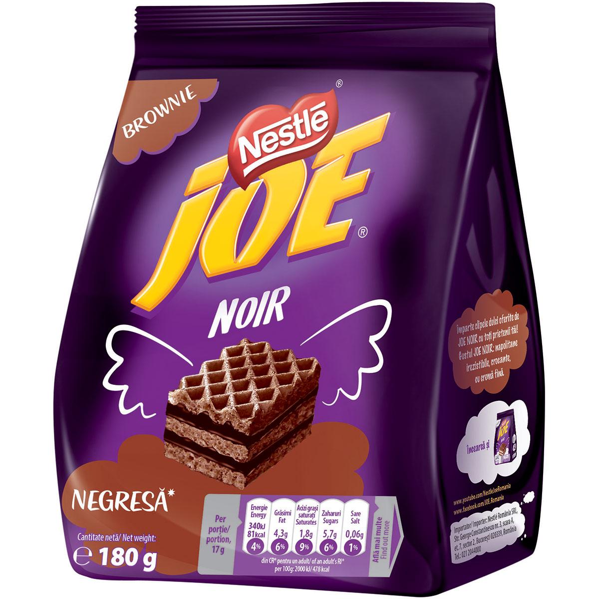 Napolitane cu crema de negresa Joe Noir, 180 g imagine