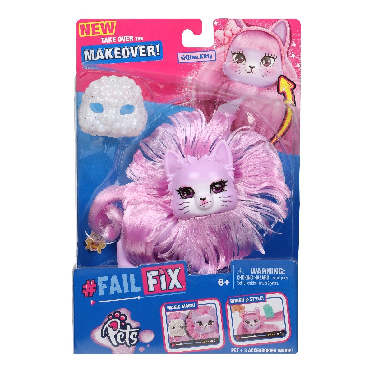 Papusa Fail Fix Makeover Pets S2, Qtee.Kitty