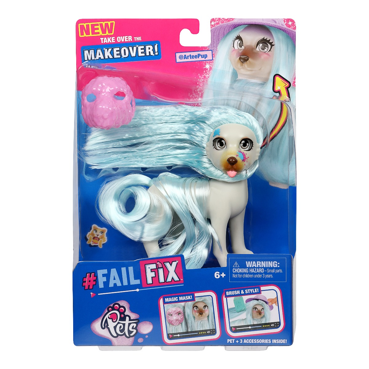 Papusa Fail Fix Makeover Pets S2, ArteePup