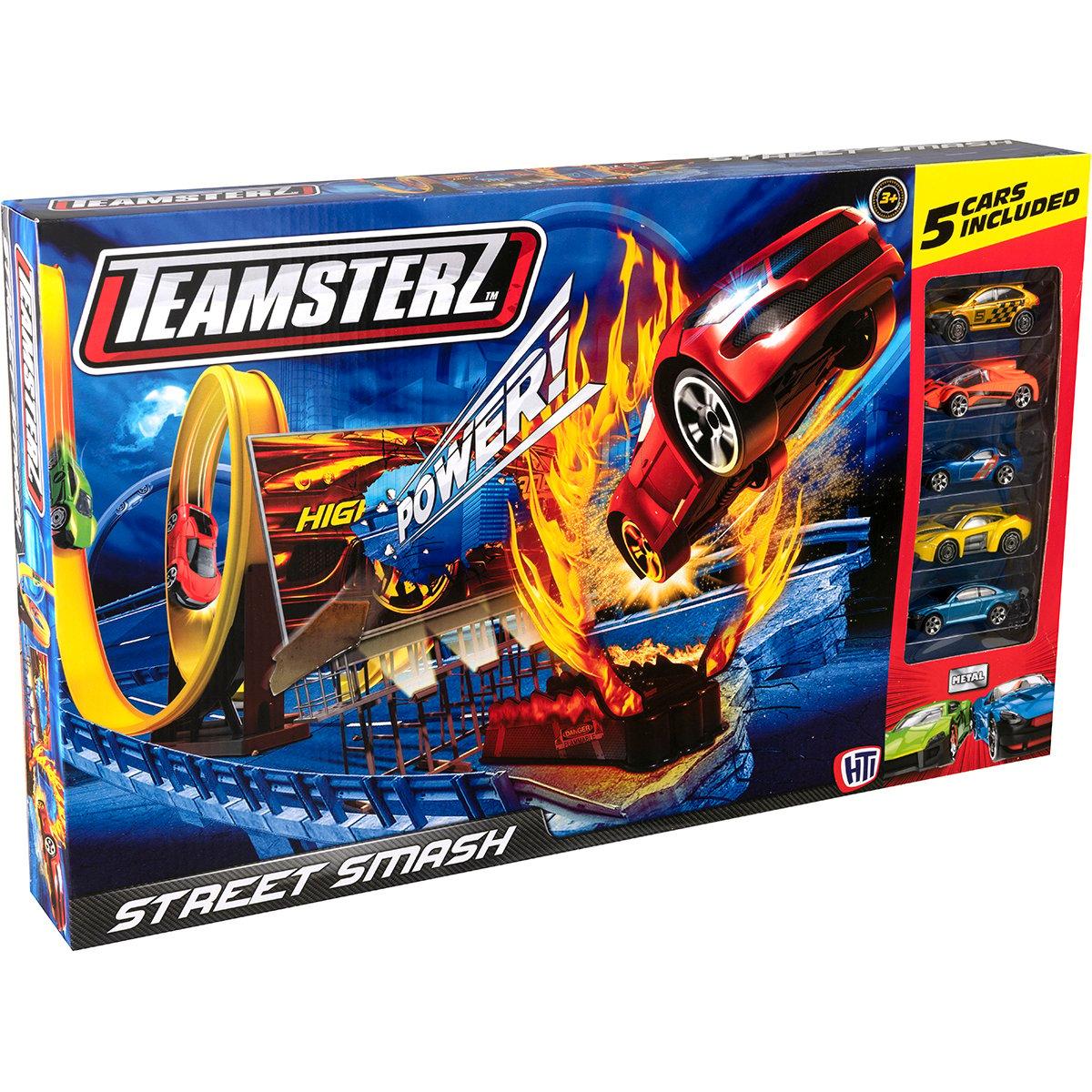 Set lansator de masinute Teamsterz, Street Smash