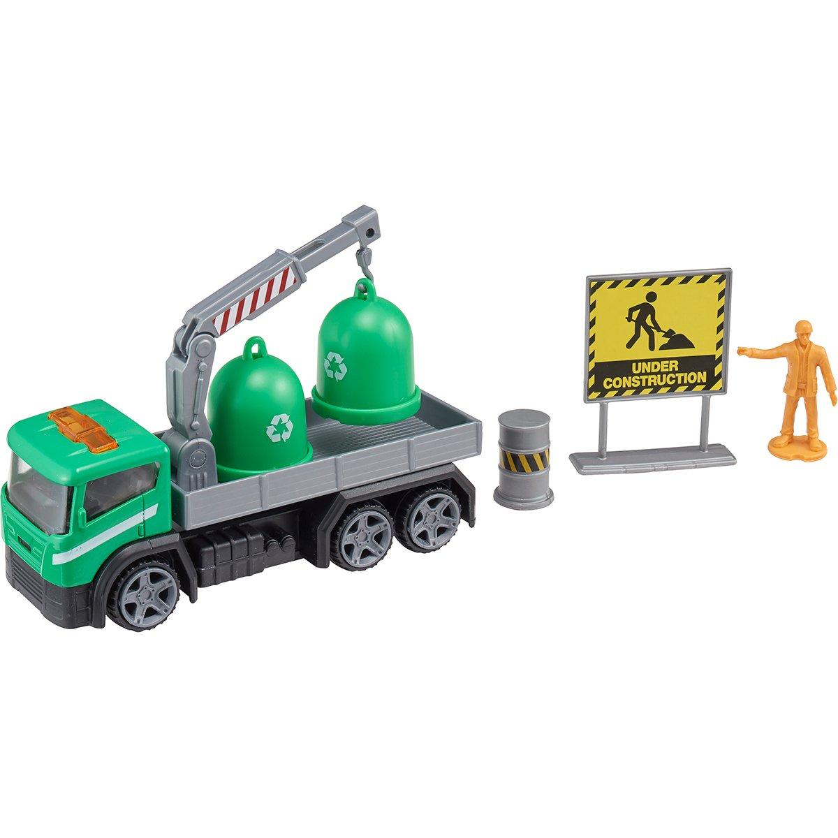Camion cu accesorii de constructie Teamsterz, Verde