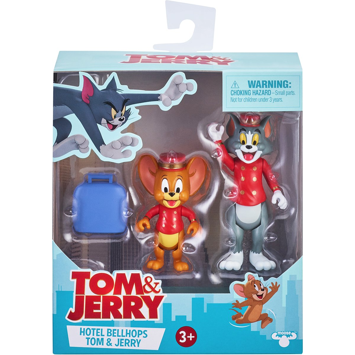 Set 2 figurine Tom and Jerry, Hotel Bellhops, S1, 8 cm