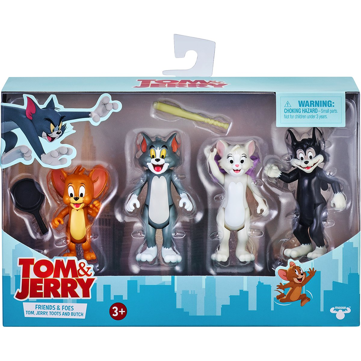 Set 4 figurine Tom and Jerry, Friends and Foes, S1