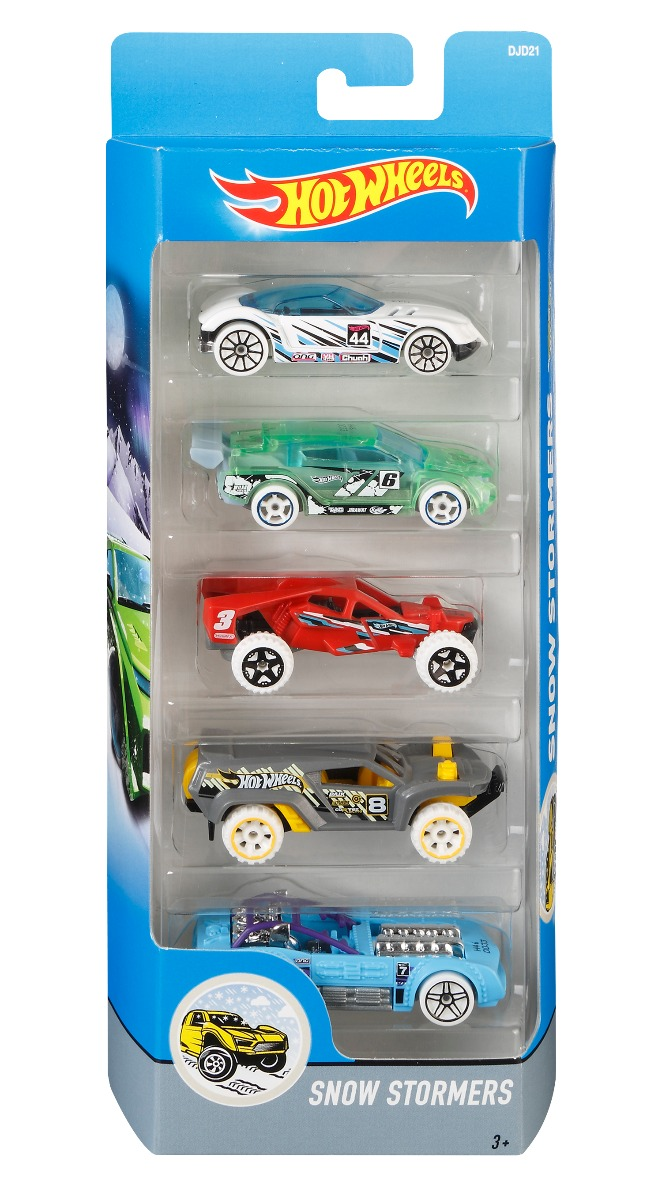 Set masinute Hot Wheels, Snow Stormers, DJD21 (5 modele)