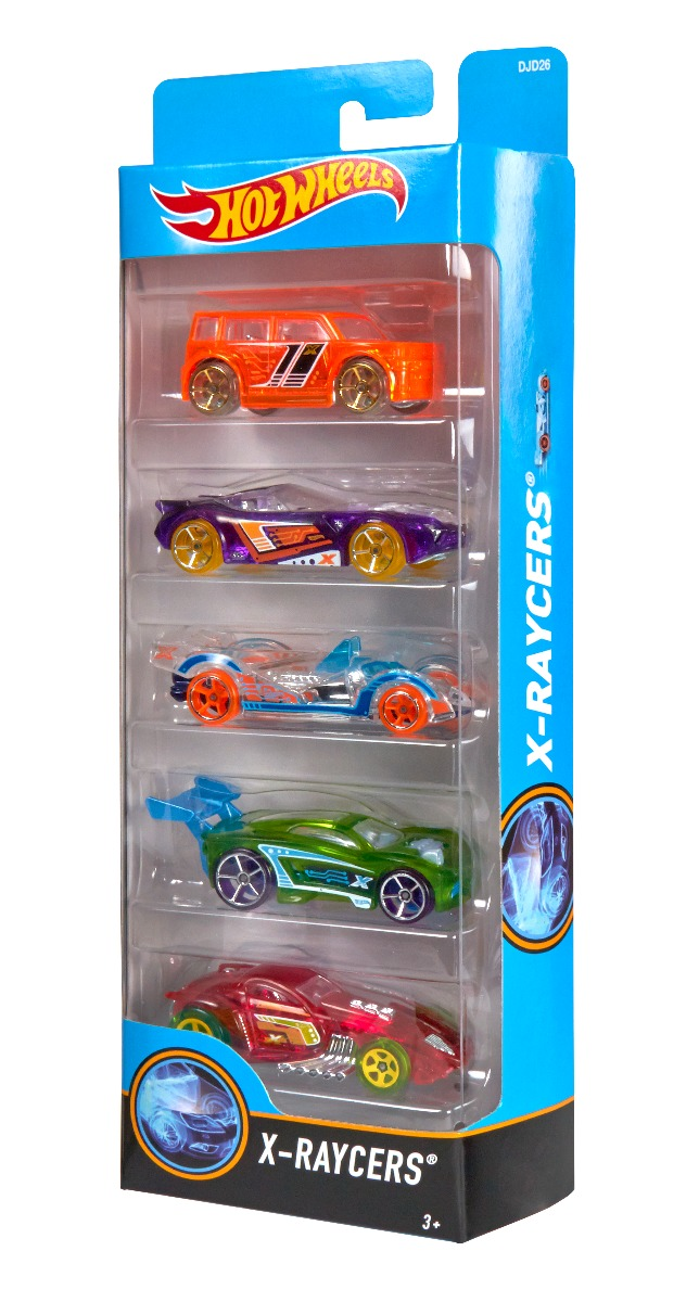 Set masinute Hot Wheels, X-Raycers, DJD26 (5 modele)