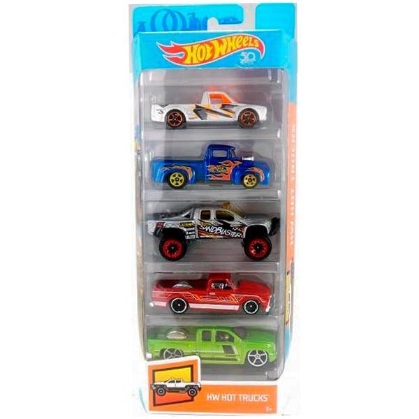 Set masinute Hot Wheels, HW Hot Truks, FKT63 (5 modele)