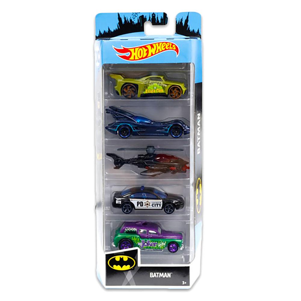 Set masinute Hot Wheels, Batman, FYL09 (5 modele)