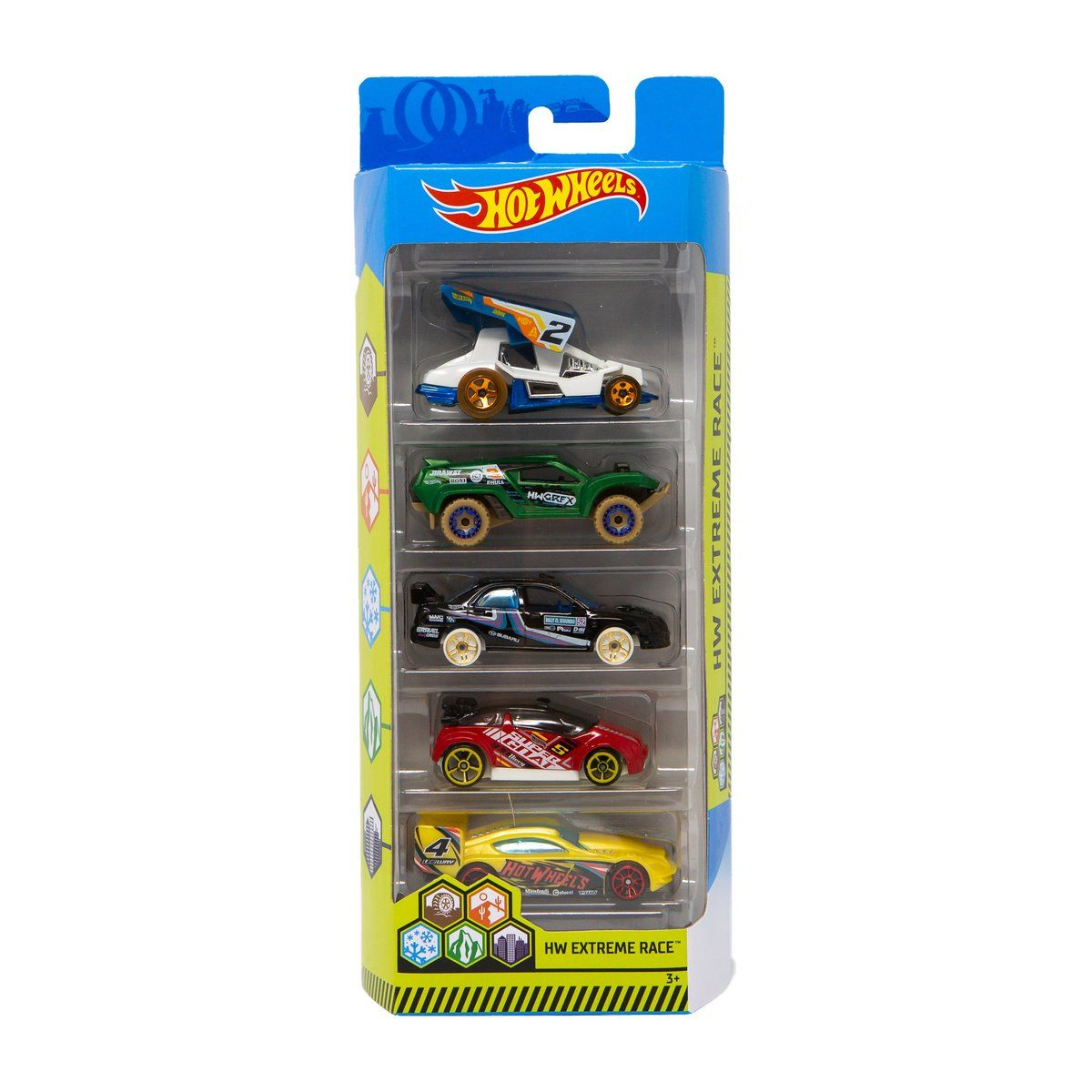 Set masinute Hot Wheels, Extreme Race, FYL11 (5 modele)