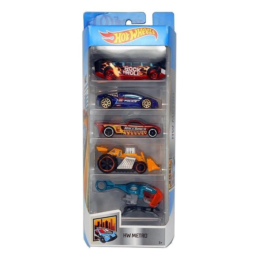 Set masinute Hot Wheels, Metro, FYL14 (5 modele)
