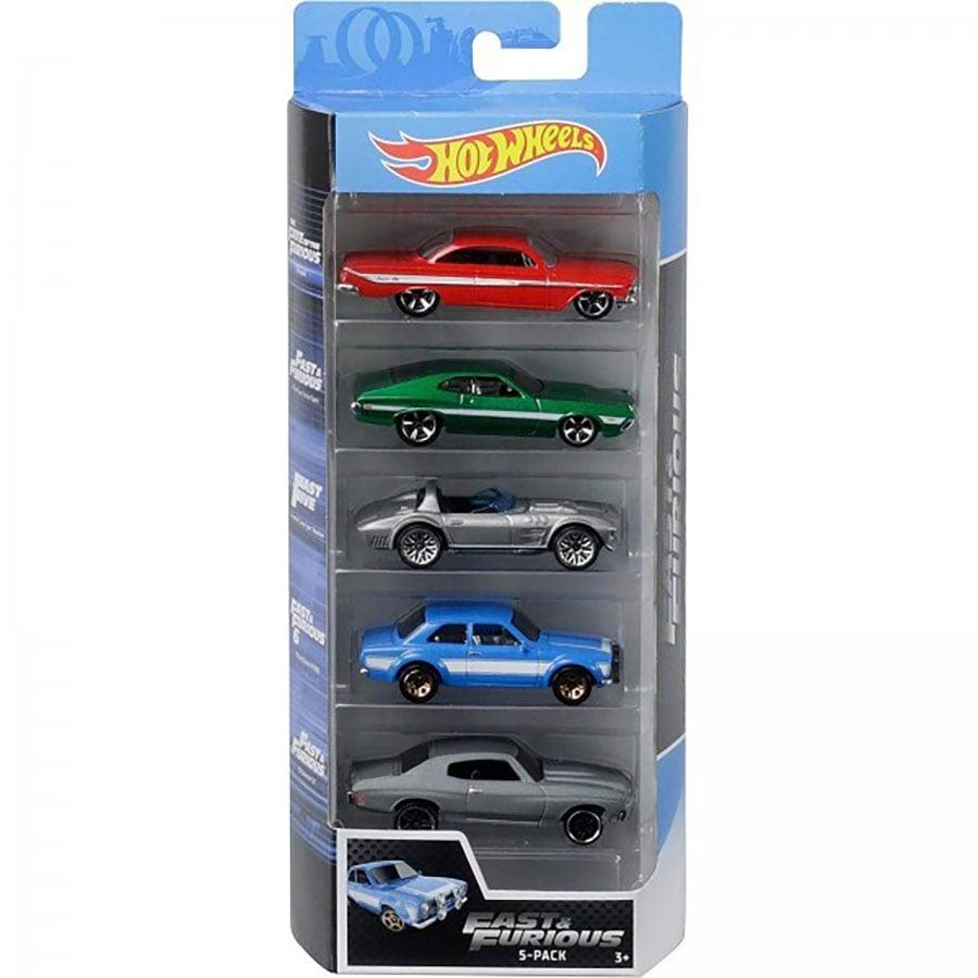 Set masinute Hot Wheels, Fast and Furious, FYL16 (5 modele)