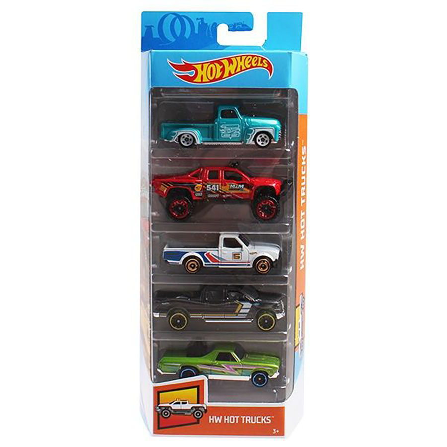 Set masinute Hot Wheels, Hot Trucks, FYL18 (5 modele)