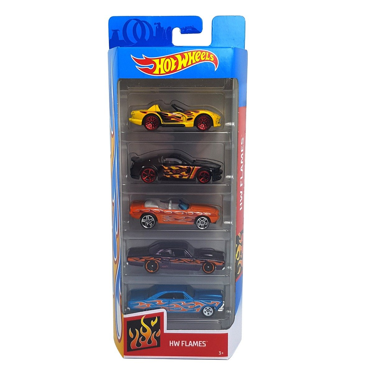 Set masinute Hot Wheels, Flames, FYL19 (5 modele)