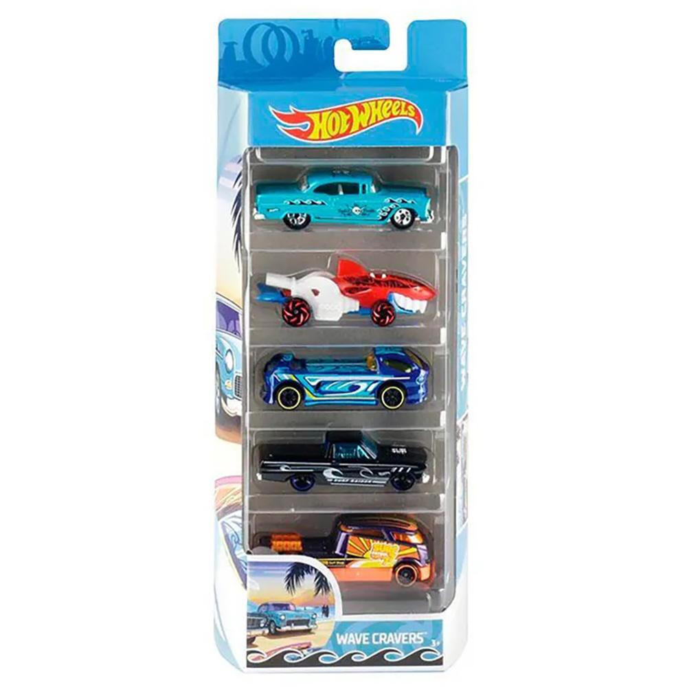 Set masinute Hot Wheels, Wave Cravers, FYL21 (5 modele)