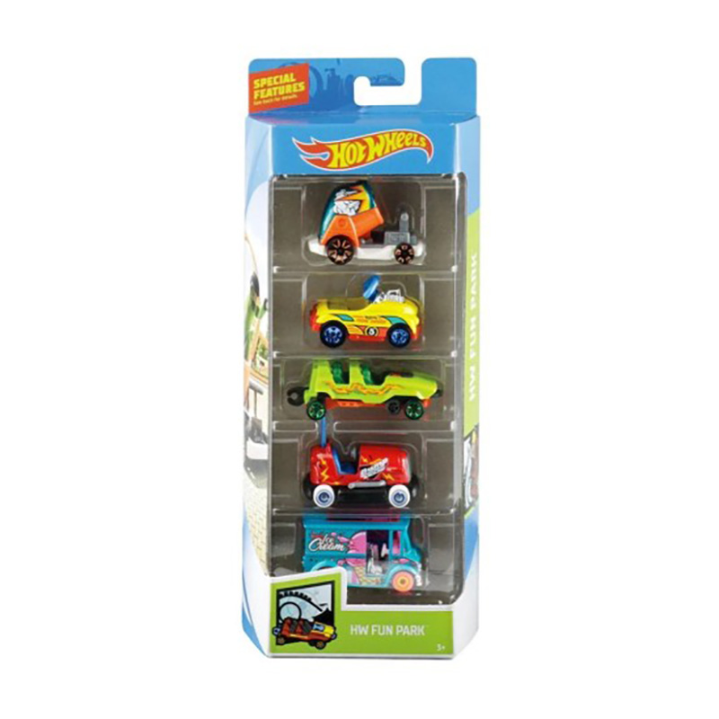 Set masinute Hot Wheels, Fun Park, GHP49 (5 modele)