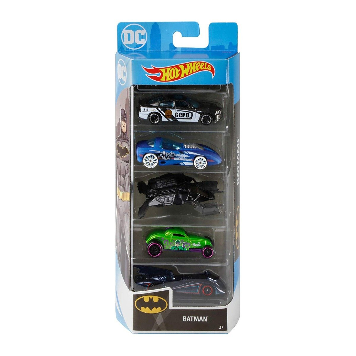 Set masinute Hot Wheels, Batman, GHP54 (5 modele)
