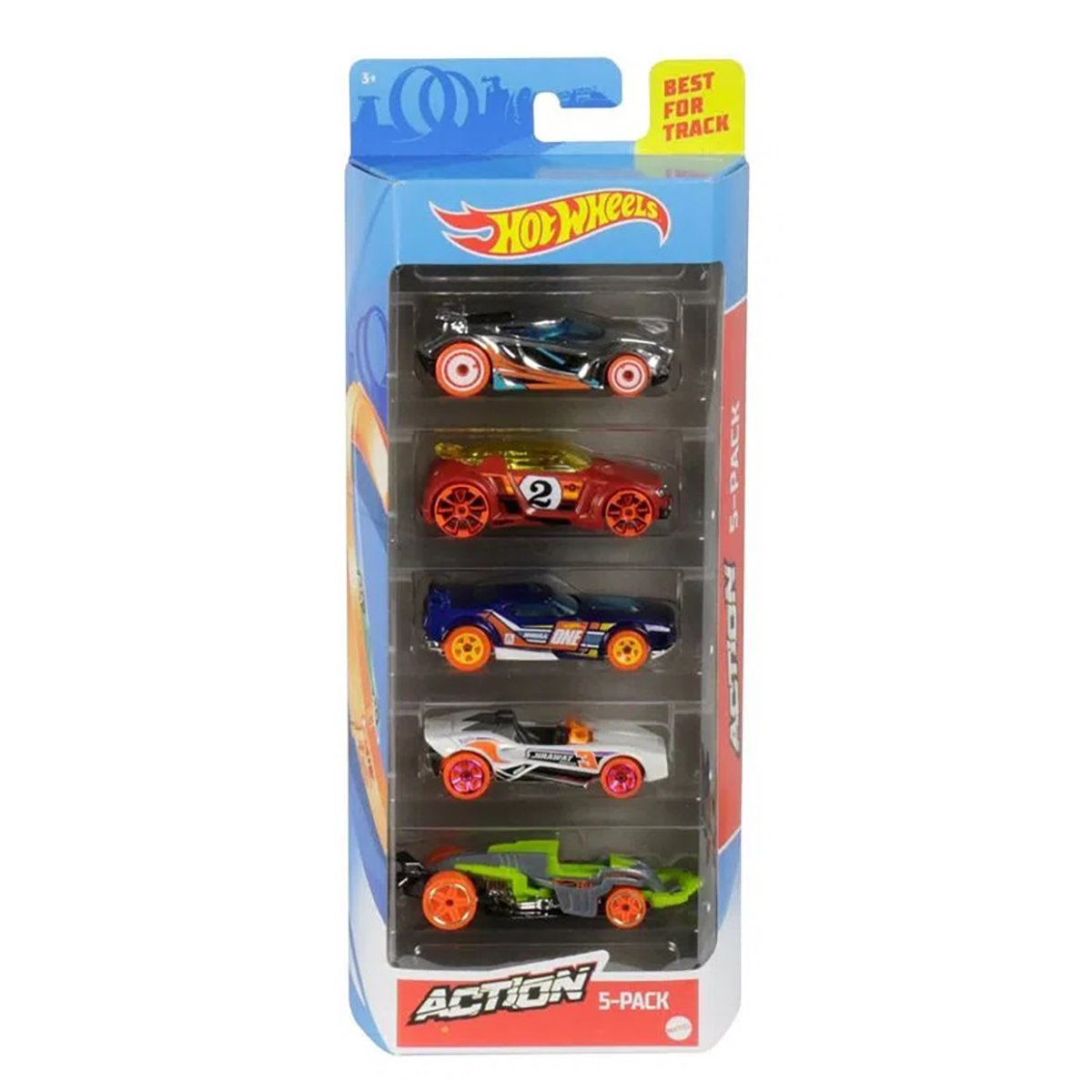 Set masinute Hot Wheels, Action, GHP64, 1:64 (5 modele)