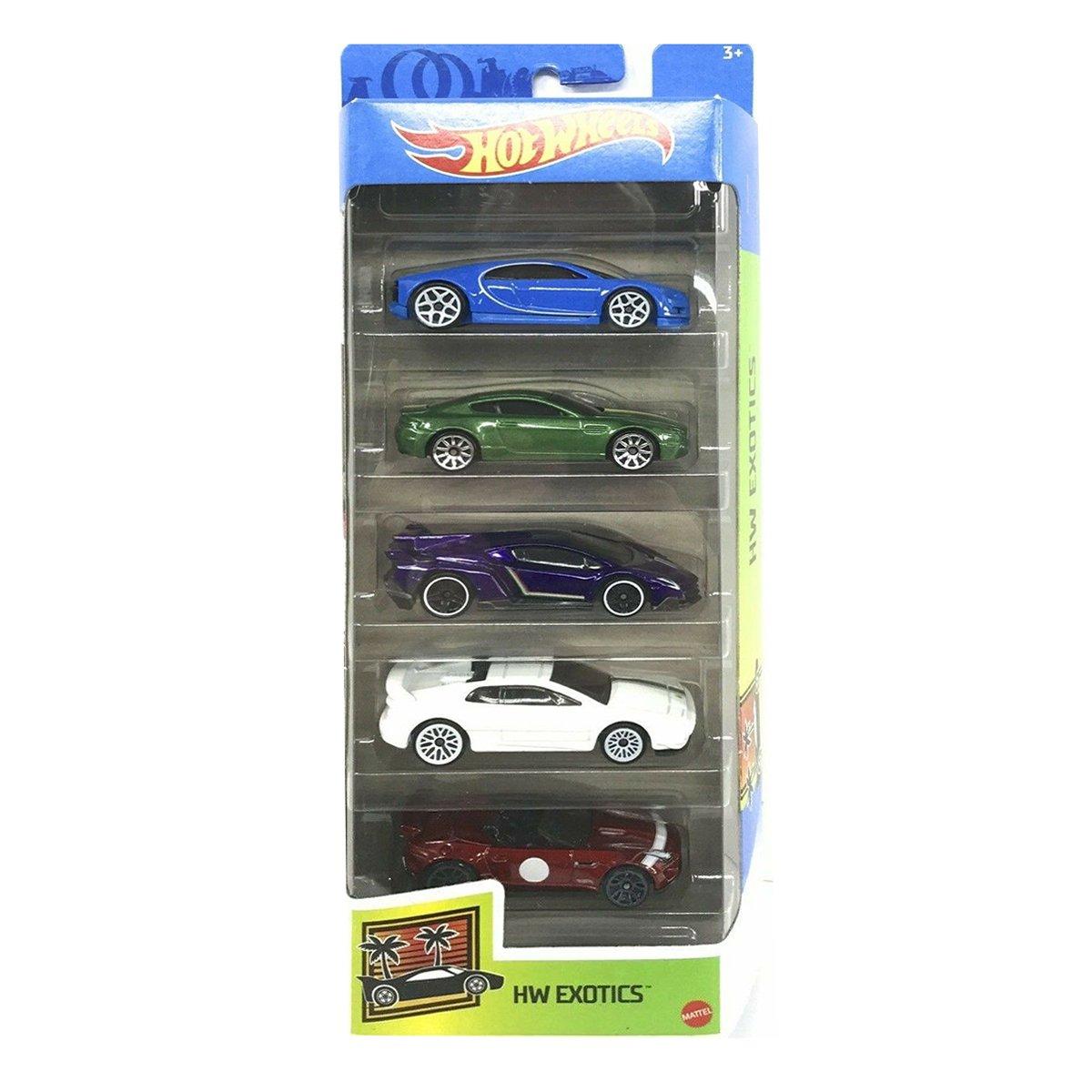 Set masinute Hot Wheels, HW Exotics, GTN33, 1:64 (5 modele)