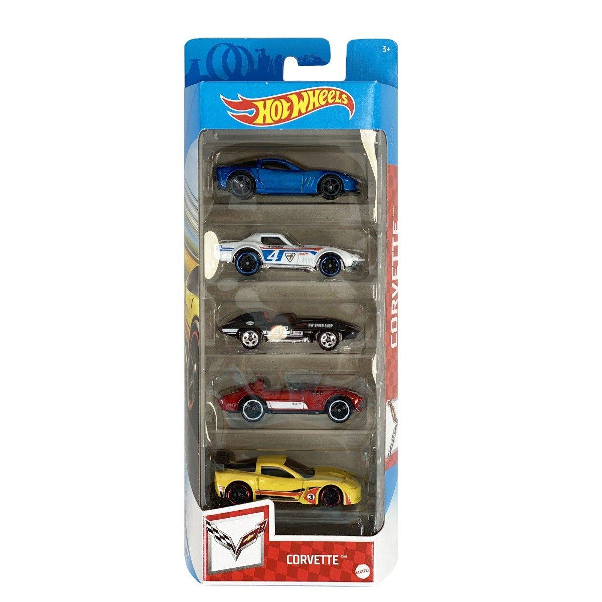Set masinute Hot Wheels, Corvette, GTN35, 1:64 (5 modele)