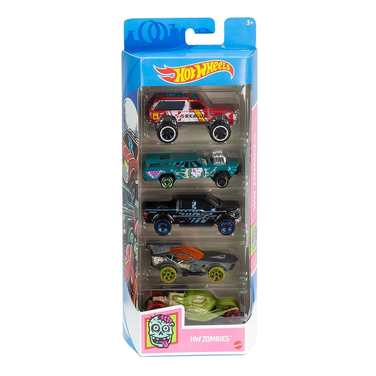 Set masinute Hot Wheels, HW Zombies, GTN42, 1:64 (5 modele)