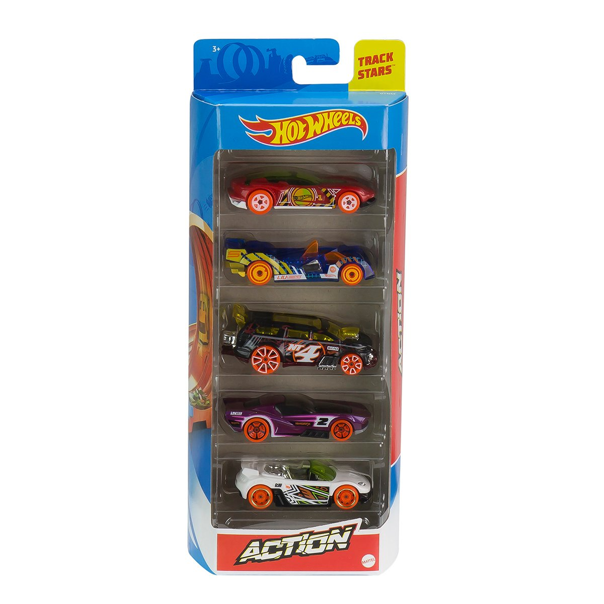 Set masinute Hot Wheels, Action, GTN44, 1:64 (5 modele)