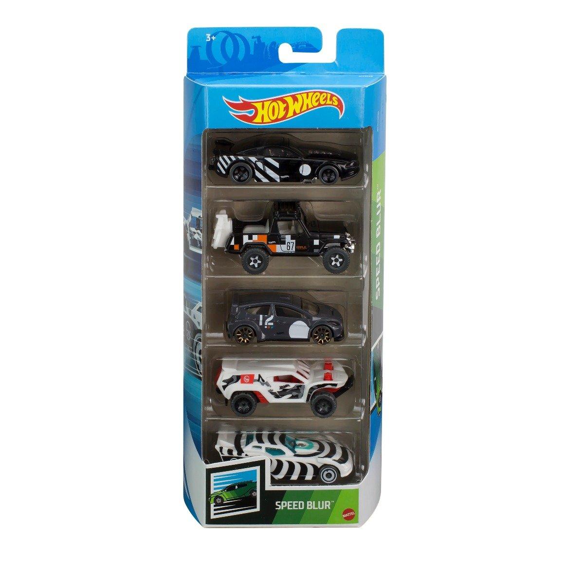 Set masinute Hot Wheels, Speed Blur, GTN45, 1:64 (5 modele)