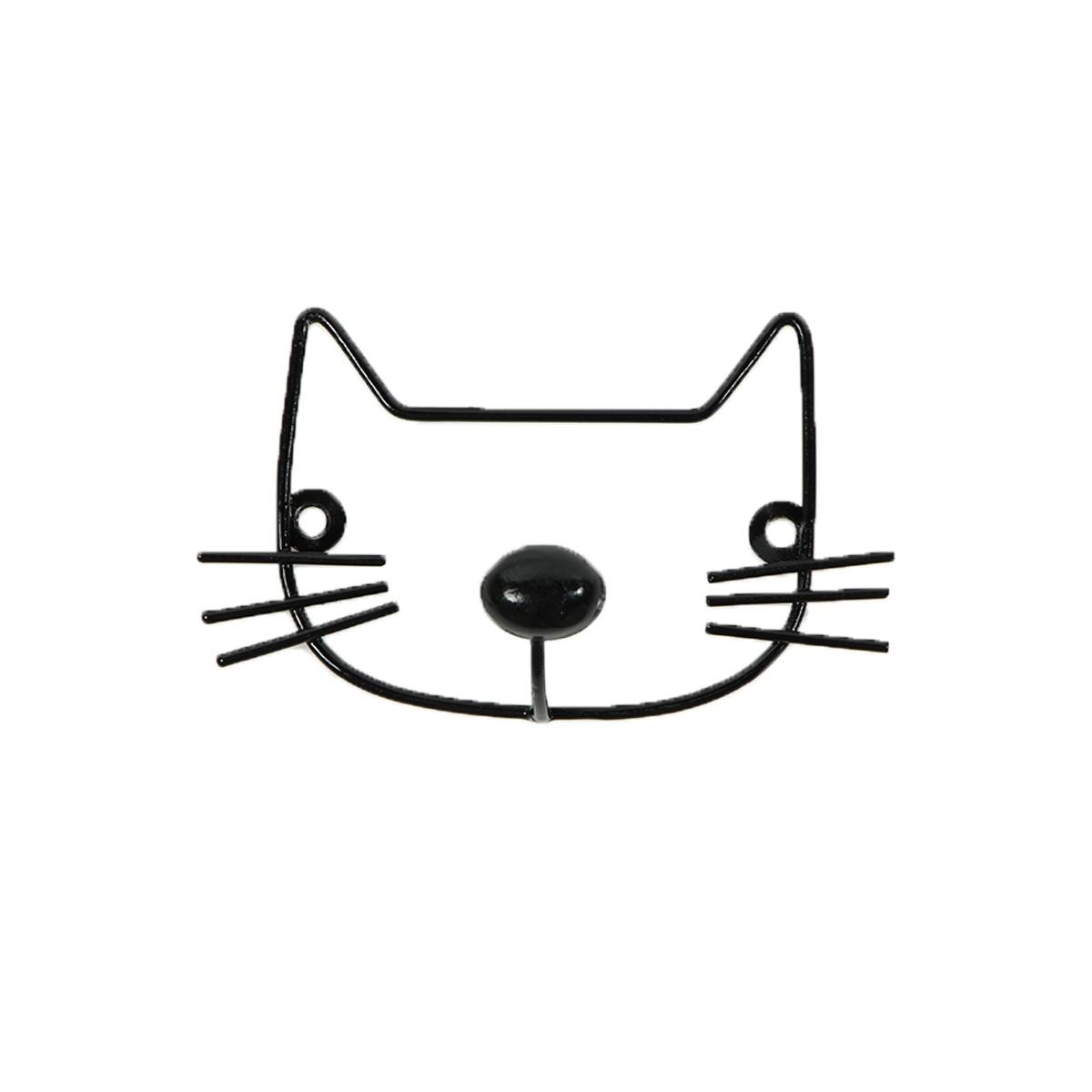 Raft metalic decorativ pisica Minene, Negru imagine