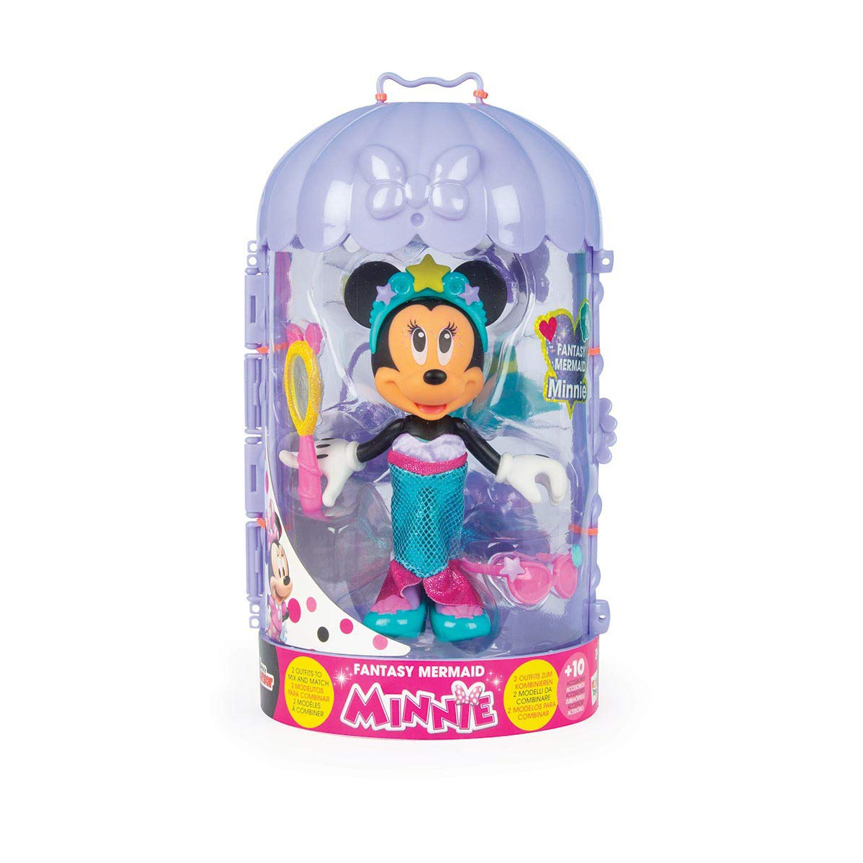 Set figurina cu accesorii Minnie Disney, Fantasy Mermaid W3