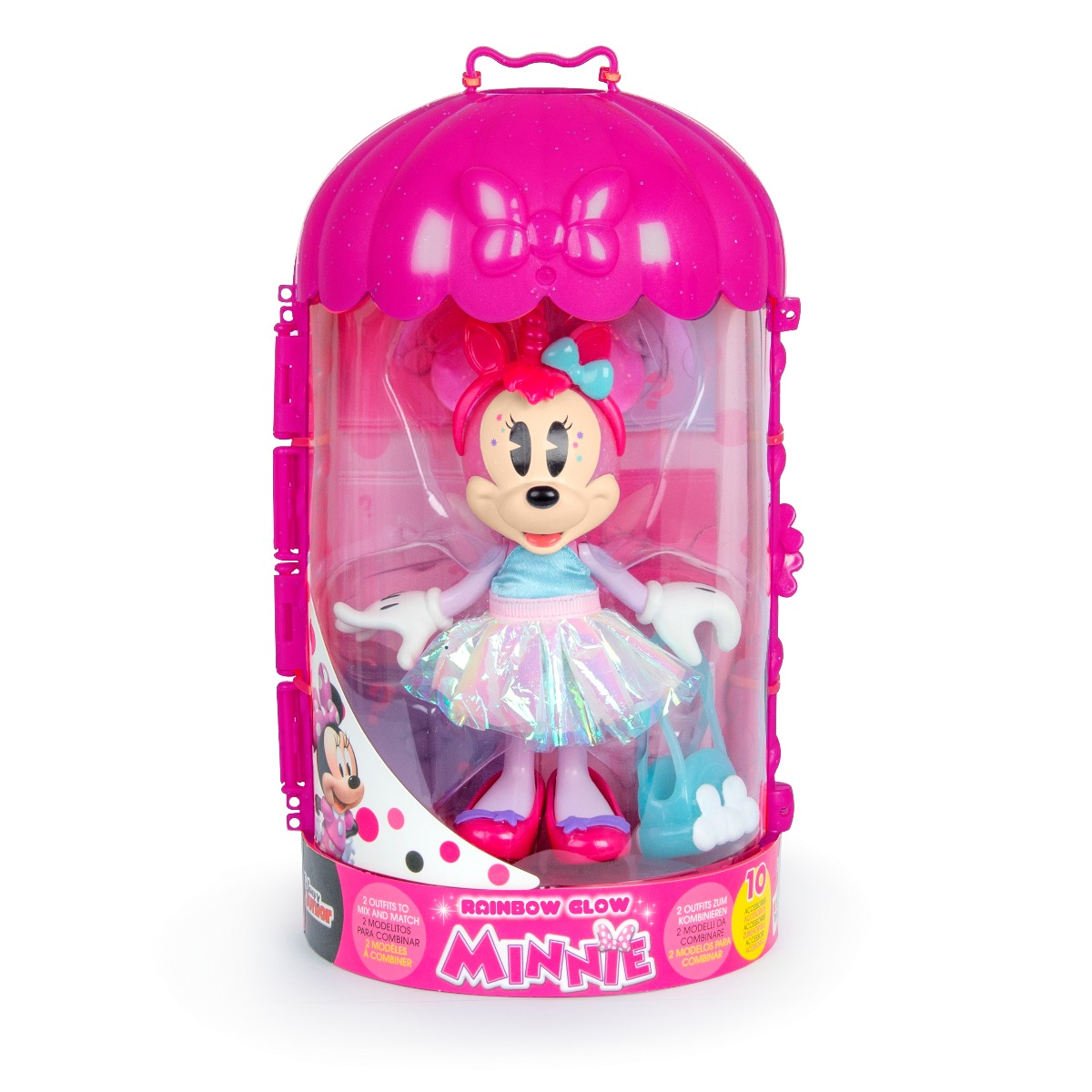 Figurina cu accesorii Disney Minnie Mouse, Rainbow Glow, W4 imagine 2021