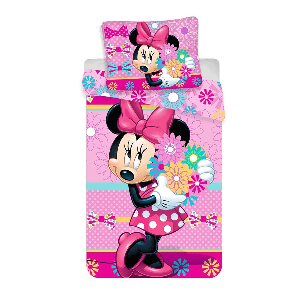 Set lenjerie de pat Minnie Mouse, 140 x 200 cm imagine