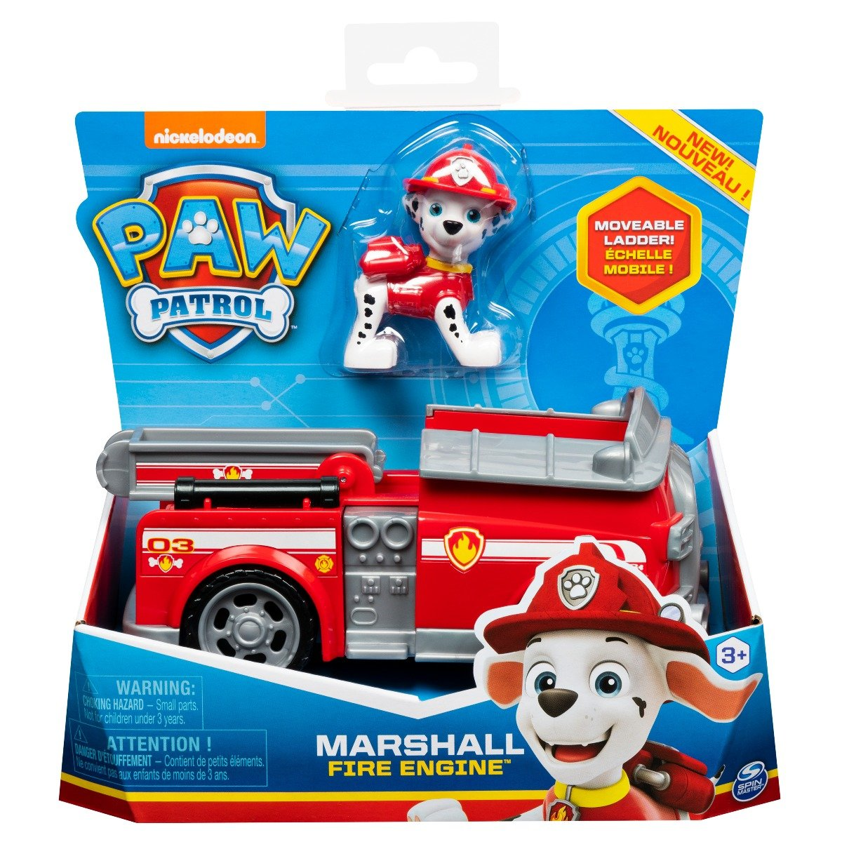 Masinuta cu figurina Paw Patrol, Marshall Fire Engine 20114322