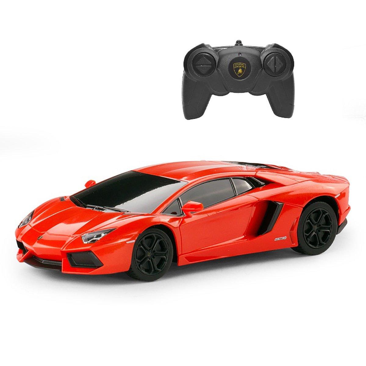 Masinuta cu telecomanda Rastar Lamborghini Aventador LP700 RC, Portocaliu, 1:24